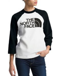 The North Face Women's Half Dome 3/4 Baseball T-Shirt TNF White