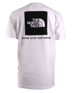 The North Face Men's S/S Red Box Tee White Black