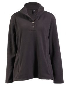 North River Women's Fleece Shawl Neck Forge Iron