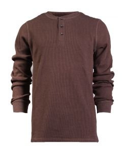 North River Men's Long Sleeve 3 Button Henley Bittersweet Heather