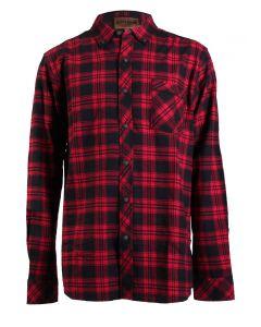 North River Men's Long Sleeve Cotton Shirt Tango Red