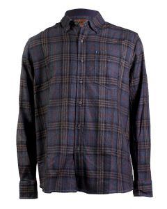 North River Men's Long Sleeve Herringbone Shirt Flint