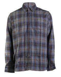North River Men's Long Sleeve Herringbone Shirt Flint Stone