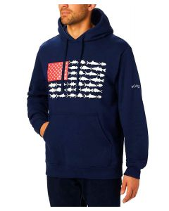 Columbia Sportswear Men's PFG Fish Flag Hoodie Navy