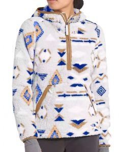 The North Face Women's Campshire Pullover Hoodie 2.0 Blue Cali Geo