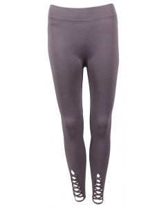 Deloache Women's Lattice Leggings Grey