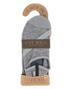 FitKicks Women's Live Well Grey