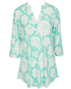 Mountain Mamas Silky Tunic Mint Floral