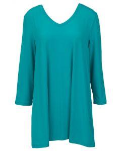 Mountain Mamas Essential V-Neck Tunic Scuba Blue