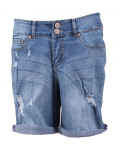 One 5 One Women's Destructed Shorts Denim