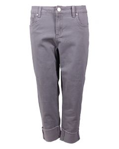 One 5 One Women's Frayed Crop Jeans Cement