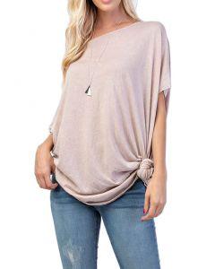 Rae Mode Mineral Wash Asymmetrical Tunic Blush