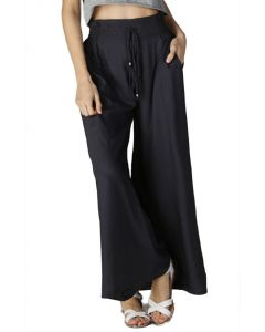 Angie Women's Wide Leg Drawstring Pants Charcoal