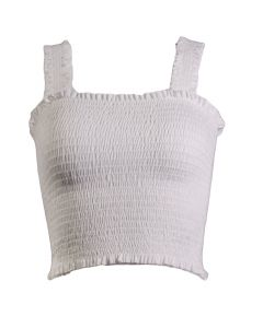 Tres Bien Women's Bunney Ears Tube Top Ivory