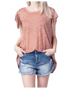 Mittoshop Women's Tiered Sleeve Knit Top Mauve
