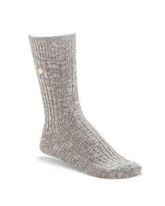 Birkenstock Cotton Slub Socks Grey White