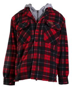 Stillwater Supply Co Men's Hooded Jacket Red Black