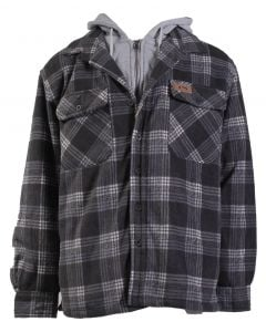 Stillwater Supply Co Men's Hooded Jacket Black Plaid