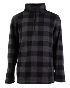 Stillwater Supply Co Men's 1/4 Zip Pullover Charcoal