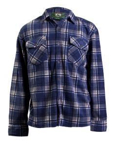 Stillwater Supply Co Men's Plaid Fleece Shirt Blue Grey