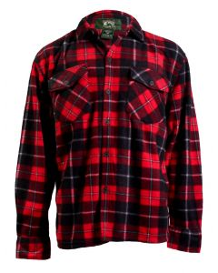 Stillwater Supply Co Men's Plaid Fleece Shirt Red Navy