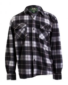 Stillwater Supply Co Men's Plaid Fleece Shirt Grey Black