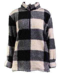 Stillwater Supply Co Women's 1/4 Zip Pullover Winter White