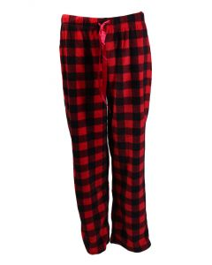 Stillwater Supply Co Women's Fleece Pants Black Red
