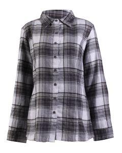 Stillwater Supply Co Women's Flannel Shirt Grey Black