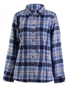Stillwater Supply Co Women's Flannel Shirt Navy Blue