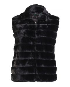 Stillwater Supply Co Women's Faux Fur Vest Black