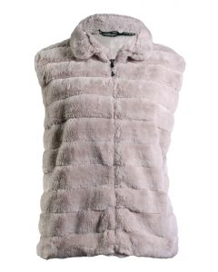 Stillwater Supply Co Women's Faux Fur Vest Oatmeal