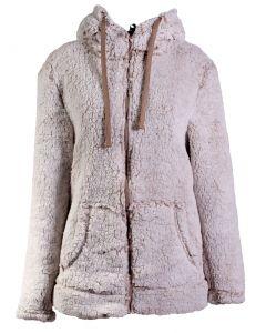 Stillwater Supply Co Women's Full Zip Hooded Sherpa Fleece Oatmeal