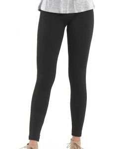 One 5 One Women's Heather Fleece Leggings Black