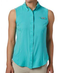Columbia Sportswear Women's PFG Tamiami Sleeveless Shirt Dolphin