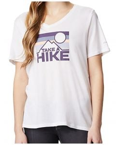 Columbia Sportswear Women's Mount Rose Relaxed Tee White Heather