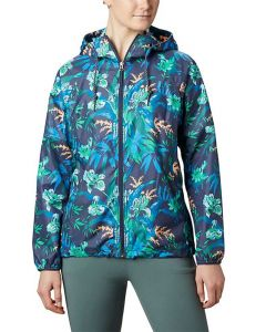 Columbia Sportswear Side Hill Printed Windbreaker Nocturnal Magnolia
