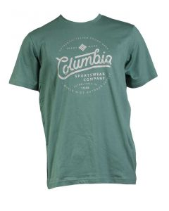 Columbia Sportswear Men's Graphic Logo Tee Thyme Green