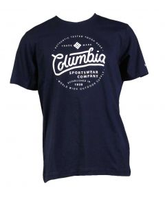 Columbia Sportswear Men's Graphic Logo Tee Collegiate Navy