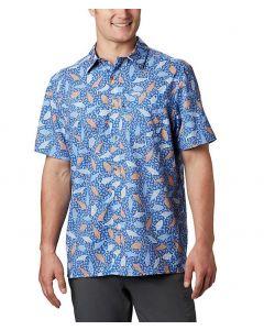 Columbia Sportswear Men's PFG Super Slack Tide Camp Shirt Vivid Blue