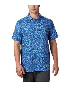 Columbia Sportswear Men's PFG Super Slack Tide Camp Shir Vivid Blue