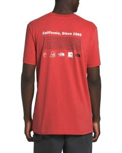 The North Face Men's Logo-Lution T-Shirt Sunbaked Red