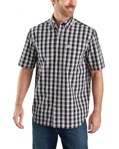 Carhartt Men's Short Sleeve Buttondown Plaid Black