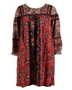 Angie Women's Geo Mini Dress Red