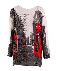 Simply Couture Women's Graphic Sweater Telephone