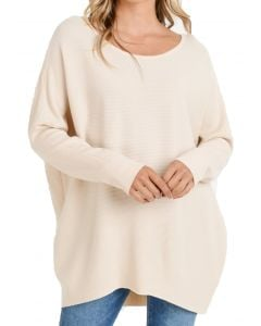 Jodifl Women's Vneck Sweater Natural