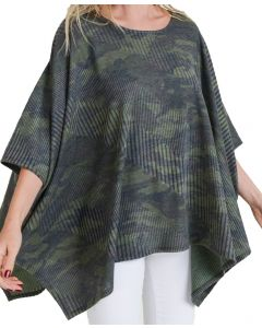 Jodifl Women's Camo Poncho Top Army