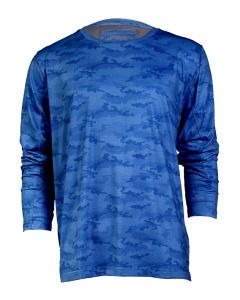 Stillwater Supply Co Men's Long Sleeve Vented Shirt Blue Camo