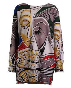 Simply Couture Women's Graphic Sweater Faces