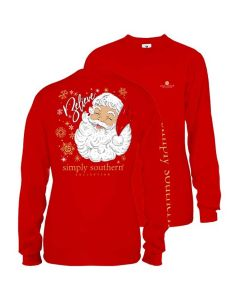 Simply Southern Women's Santa T-Shirt Red
